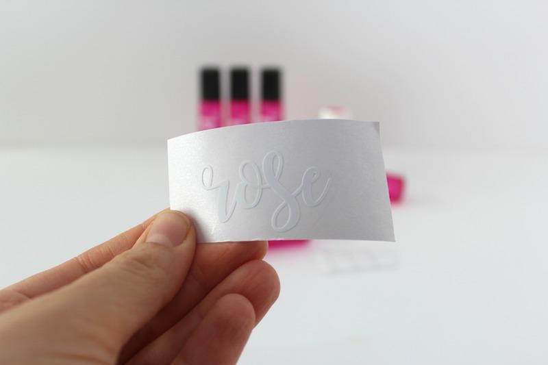 ... DIY essential oil roller bottle labels with vinyl