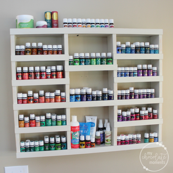 March family update - DIY essential oil shelf