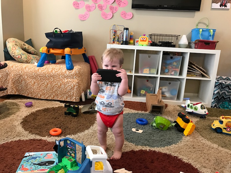 March family update - Parker taking pictures
