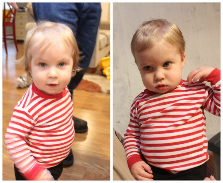 March family update - Parker's first haircut