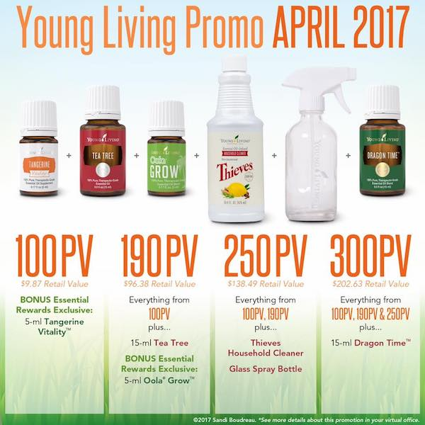 Young Living April promotions | April 2017 Young Living promos
