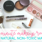 my 5 minute makeup routine using natural, non-toxic makeup