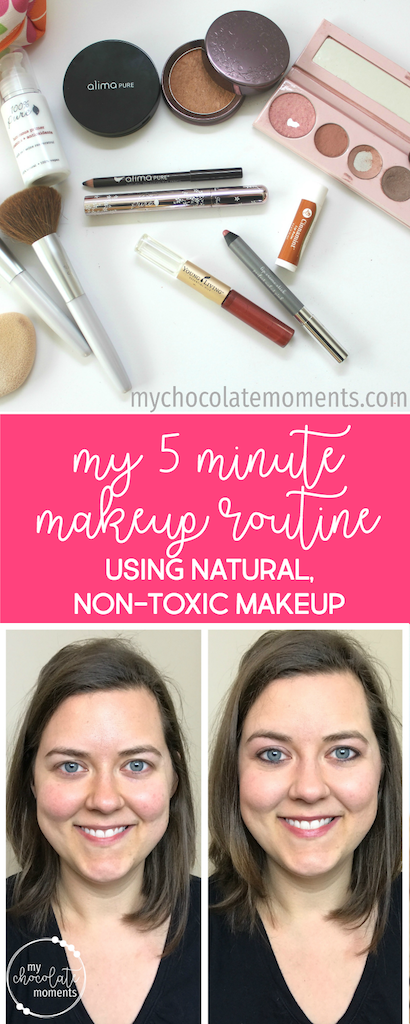 my natural, non-toxic, 5 minute makeup routine | makeup tutorial | video | non-toxic | natural | chemical free | 100% Pure | Alima Pure | Young Living