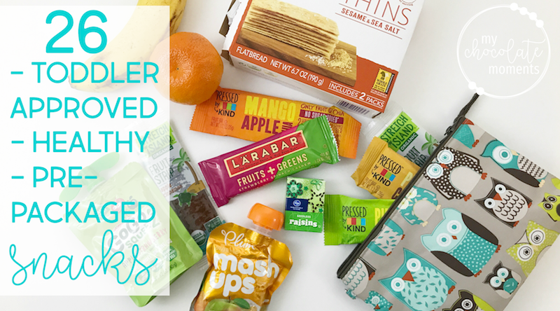 26 toddler approved, healthy pre-packaged snacks