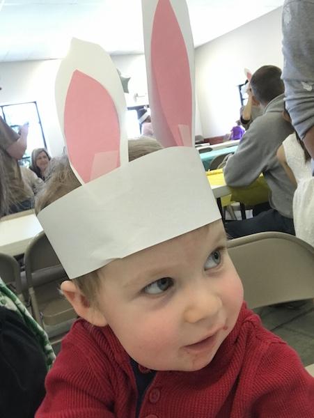 diy paper Easter bunny ears