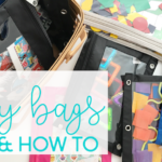 DIY busy bags – busy bag ideas and how to get started making your own