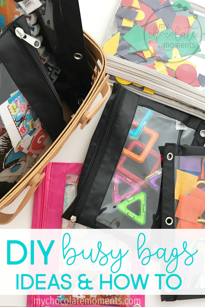 DIY busy bags - ideas & how to