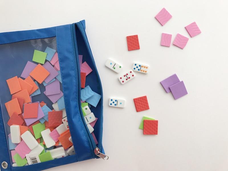 busy bags dominoes
