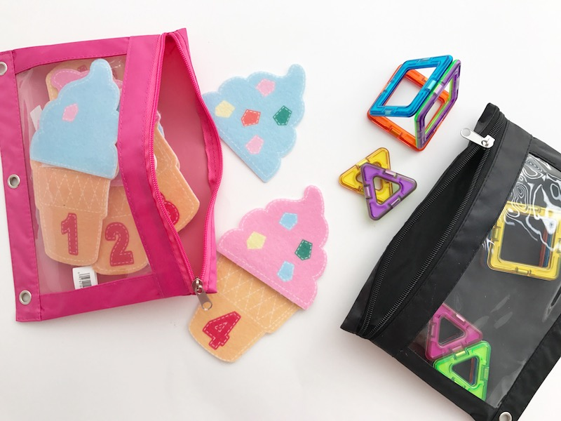 busy bags with magformers