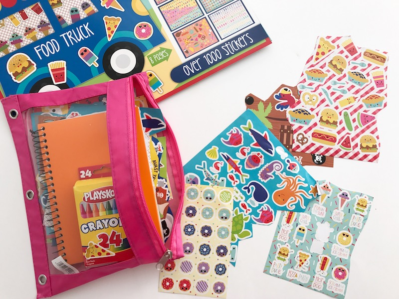 busy bags with stickers
