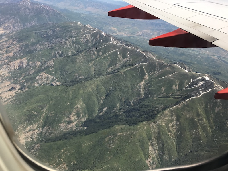 Southwest airline view of Utah