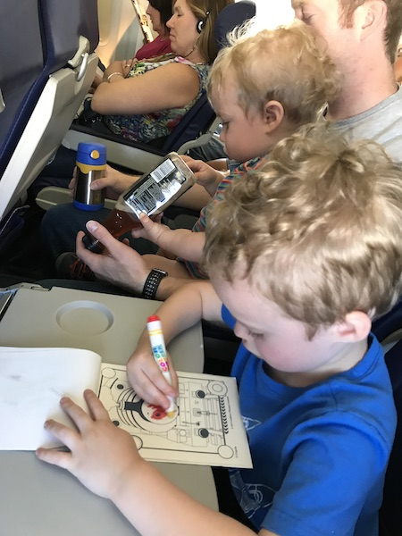 keeping kids busy on flight