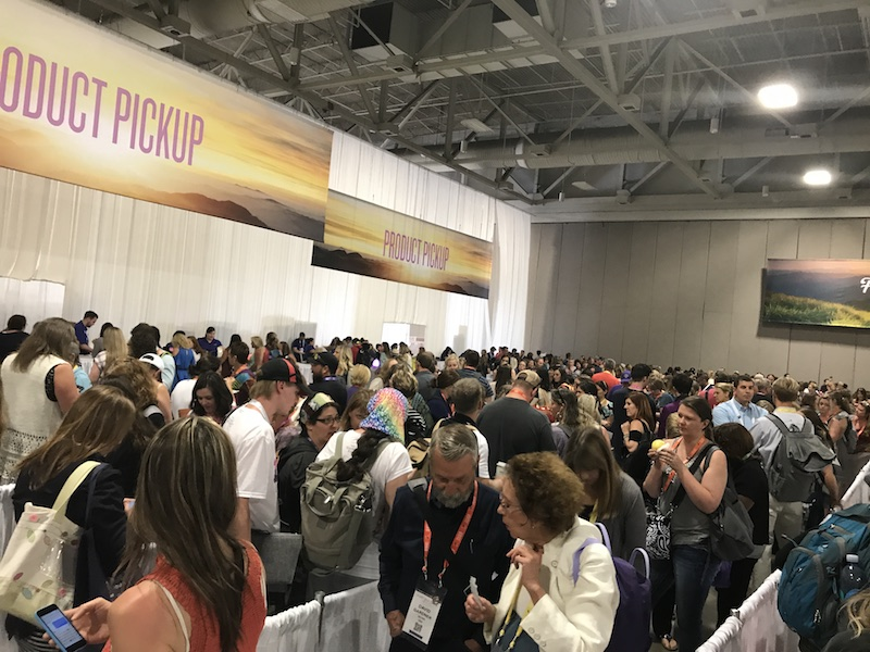 product pick up Young Living convention