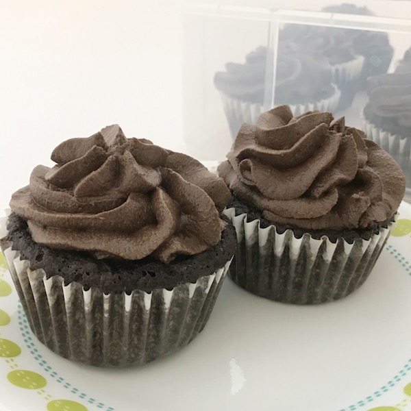 Trimtastic Zucchini cupcakes with peanut butter cup frosting