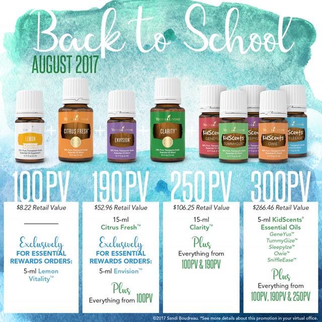 Young Living August promos