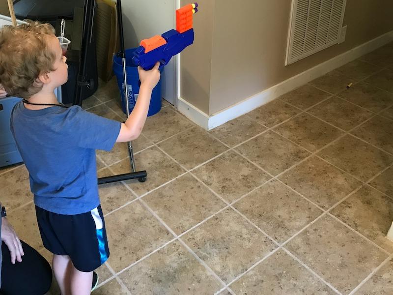 nerf guns at church camp