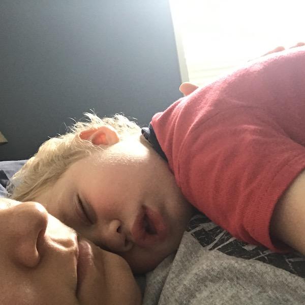 toddler snuggles