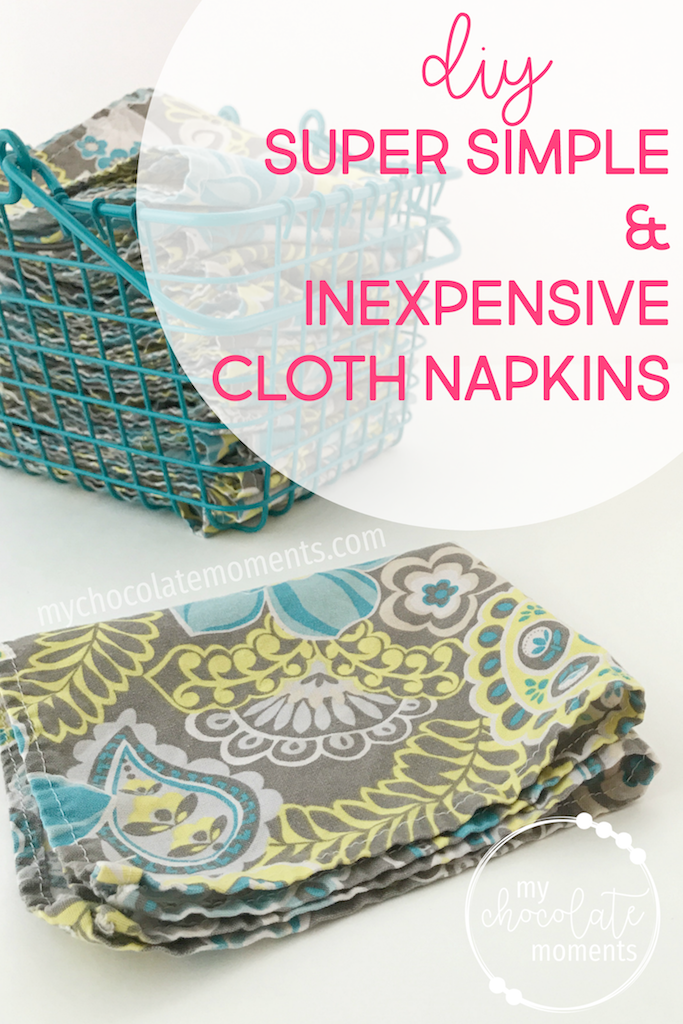 DIY cloth napkins super simple and inexpensive | sewing | crafts | diy | tutorial | cloth napkins