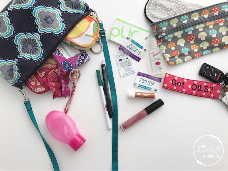 What's in my diaper bag? stuff for mommy