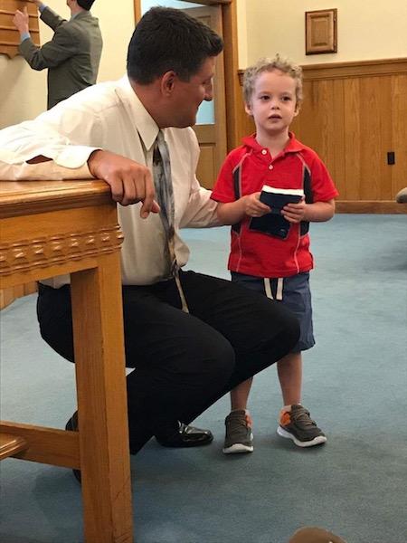 kidsing at church