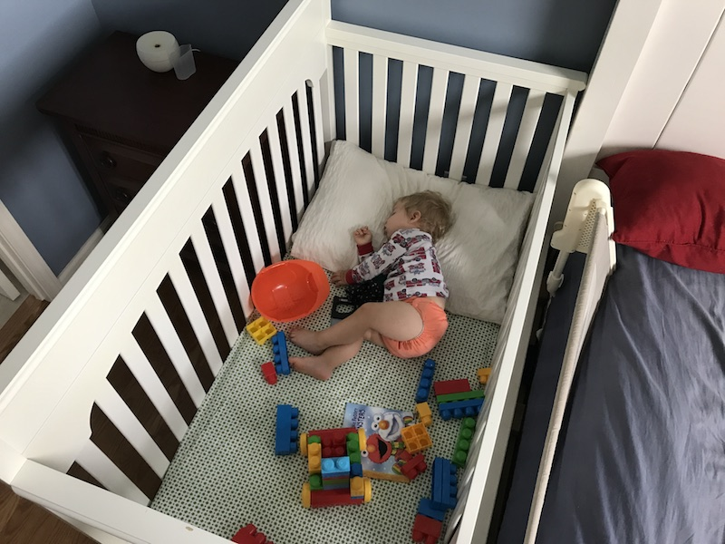napping in the crib | August 2017 family update