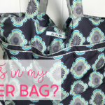 What's in my diaper bag for two kids (one who is in cloth diapers)?