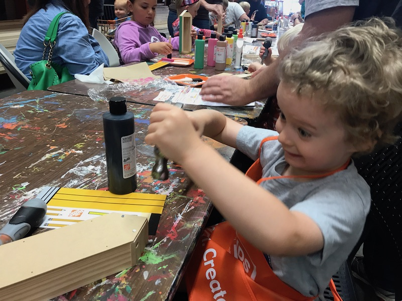 building at Home Depot