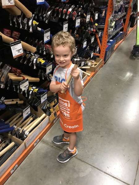 buying a hammer at home depot