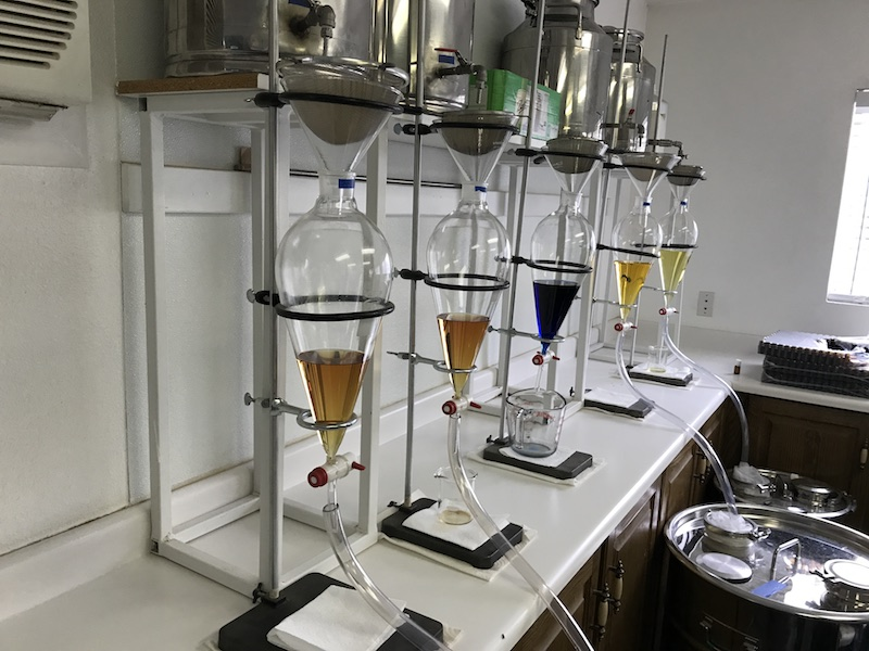 distilling oils at the farm