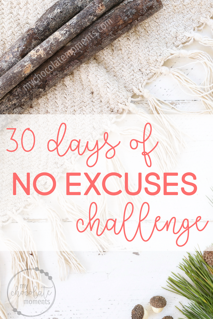 30 days of no excuses challenge for the holidays