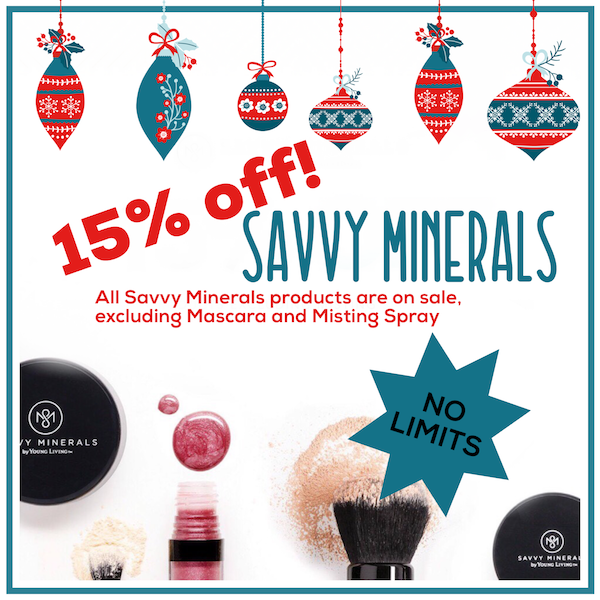 Young Living 2017 Black Friday - 15% off Savvy Minerals makeup