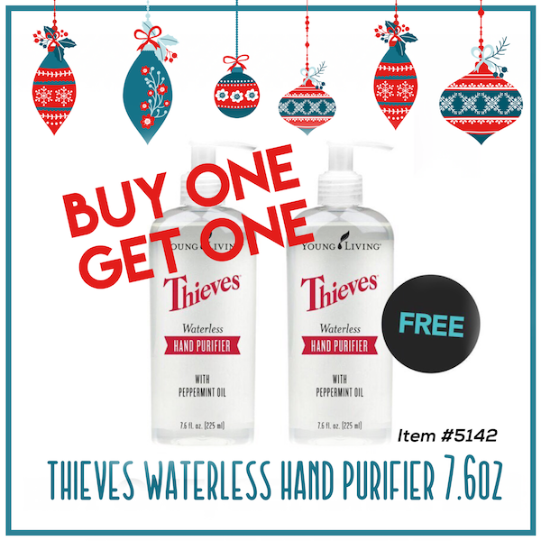Young Living 2017 Black Friday BOGO Thieves hand purifier