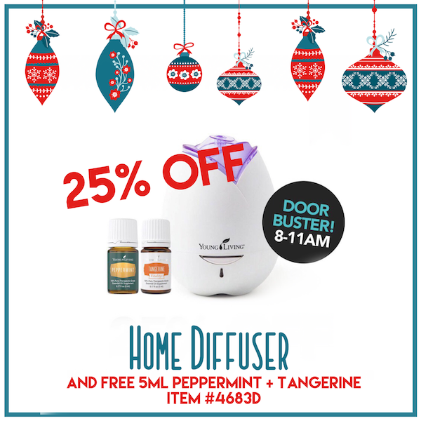 Young Living 2017 Black Friday - doorbuster 25% off home diffuser