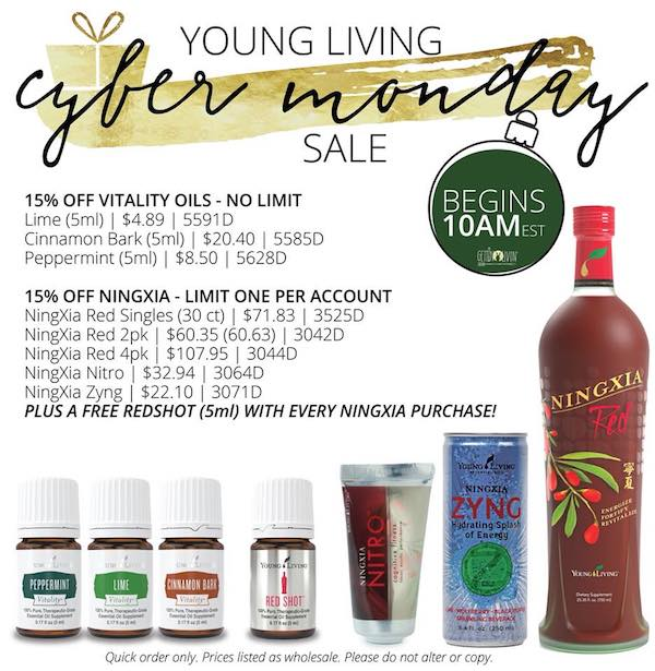 Young Living Cyber Monday promo 2017