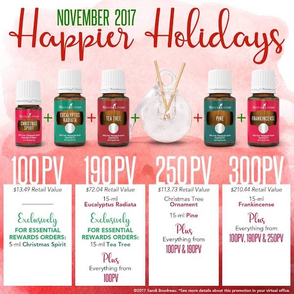 Young Living November 2017 promotion