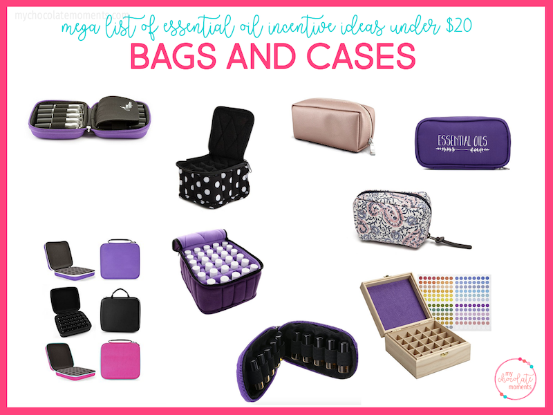 essential oil incentive ideas - bags and cases