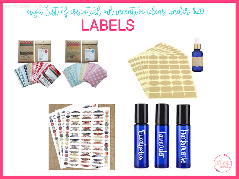 essential oil incentive ideas - labels