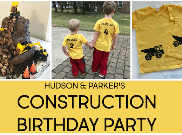 Hudson and Parker's Construction Birthday Party